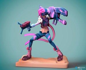 3D Jinx League of Legends 3D print model model