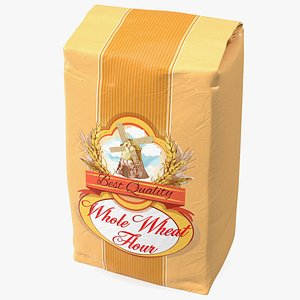 3D Wheat Flour Package 2lb