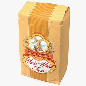 3D Wheat Flour Package 2lb