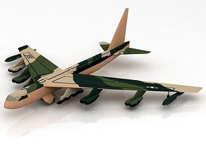 3D Boeing B52 Stratofortress Strategic Bomber