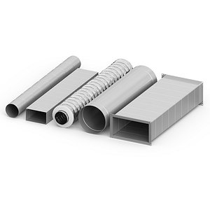 3D model air ducts 5