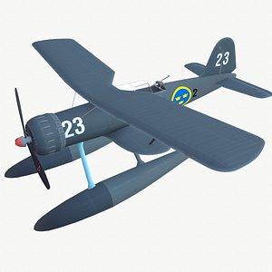 3D Seaplane Heinkel He 114 3D model