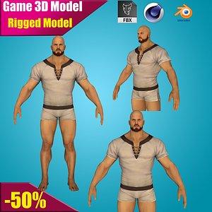 realistic body rig model