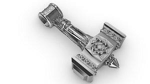 jewelry hammer slavic god 3D model