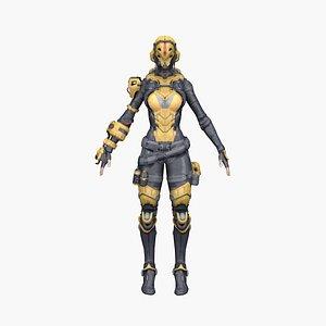 3D woman sci model