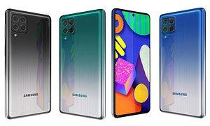 3D model Samsung Galaxy F62 All Colors