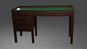3D 1930s Writing Desk