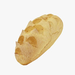 3D Corn Bread Roll - Real-Time 3D Scanned model