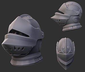 helmet joust 3D model