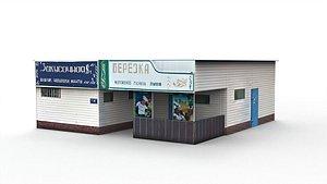 Roadside cafe 3D model
