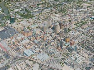 indianapolis city 3D model