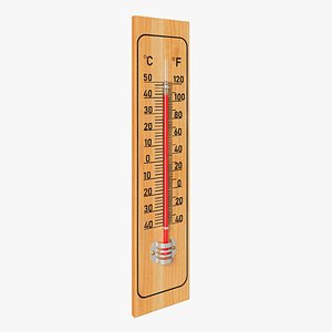 3D thermometer model