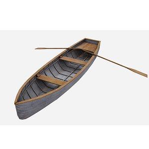 3D rowboat row boat