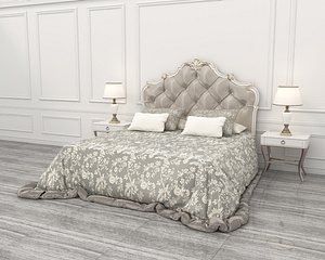 3D Neoclassical Style Bed model