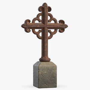 Grave Cross 4 3D model