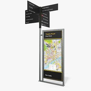 signpost sign way 3D model