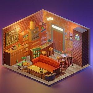 cafe room 3D model