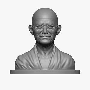 3D Mahatma Gandhi Statue 3D print