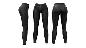 3D PackageSkinny Pants Leggings With Straps model