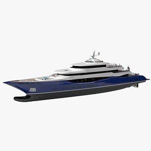 WillieLynn Luxury Yacht Dynamic Simulation 3D model