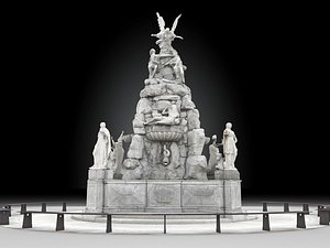 continents fountain 3D model