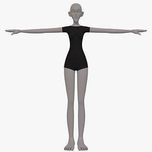 3D base mesh woman 21
