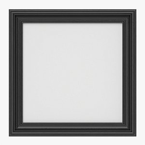 Frame with picture square 02 3D model