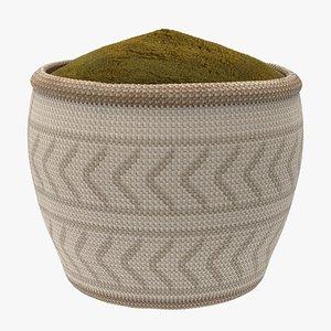 3D powder basket
