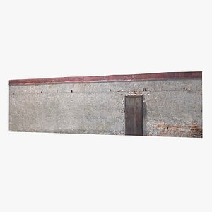 old concrete wall 3D model