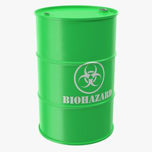 biohazard toxic waste barrel model