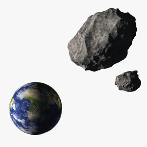Asteroid and Earth model