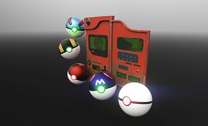 pokedex pokeball ball 3D