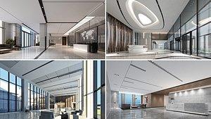 office lobby interior 3D model