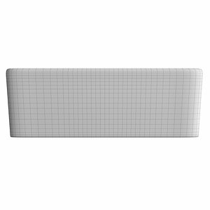 table wash basin rectangle 3D model