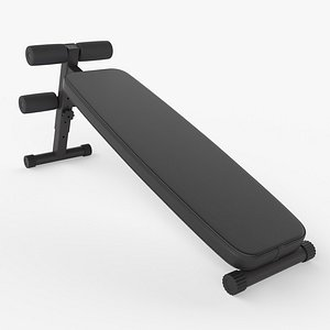 3D bench workout model