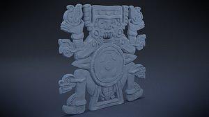 3D Tlaltecuhtli - Aztec Deity