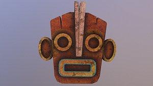 Low Poly Tiki Mask model