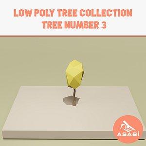 3D trees cartoon ready model
