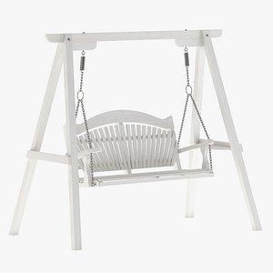 3D Wooden Swing Chair 004