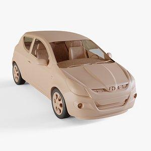 3D model 2010 Hyundai I20