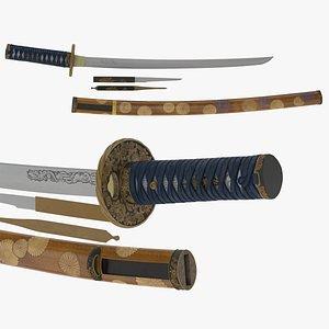 3D Wakizashi Sword