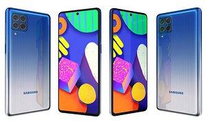 3D Samsung Galaxy F62 Laser Blue model
