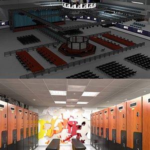 3D Ufc Stadium and Locker Room