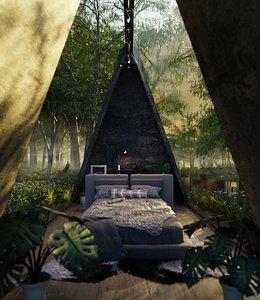 Nature Bedroom 3D model