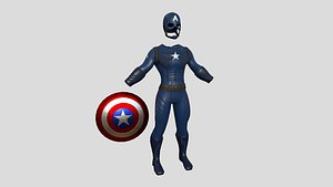 Captain America Outfit 01 - Character Design Fashion model