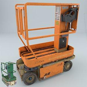 3D jlg 1230es driveable vertical