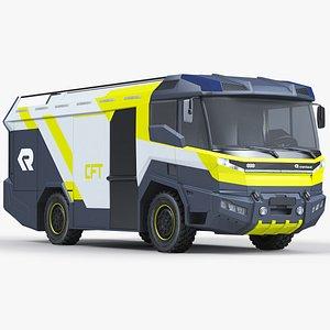 3D Rosenbauer Electric Fire Truck
