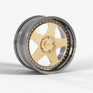 3D Three Piece Wheel - Rotation ROC model