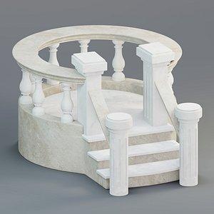 3D balcony railing