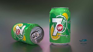 7up Can 3D model
